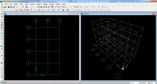 تشکیل شکل سه بعدی و دو بعدی سازه