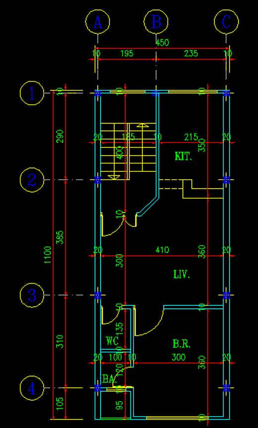 نقشه تیپ طبقات پروژه فولاد 1